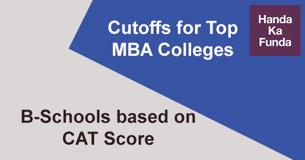 Cutoffs for top MBA Colleges and B-Schools based on CAT Score