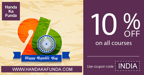Republic Day Discount - Use coupon code INDIA for 10 % off