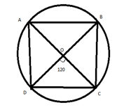 Quantitative Aptitude - Geometry - Circles - ABCD is a quadrilateral inscribed