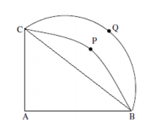 Quantitative Aptitude - Geometry - Circles - Let ABC be a right-angled isosceles