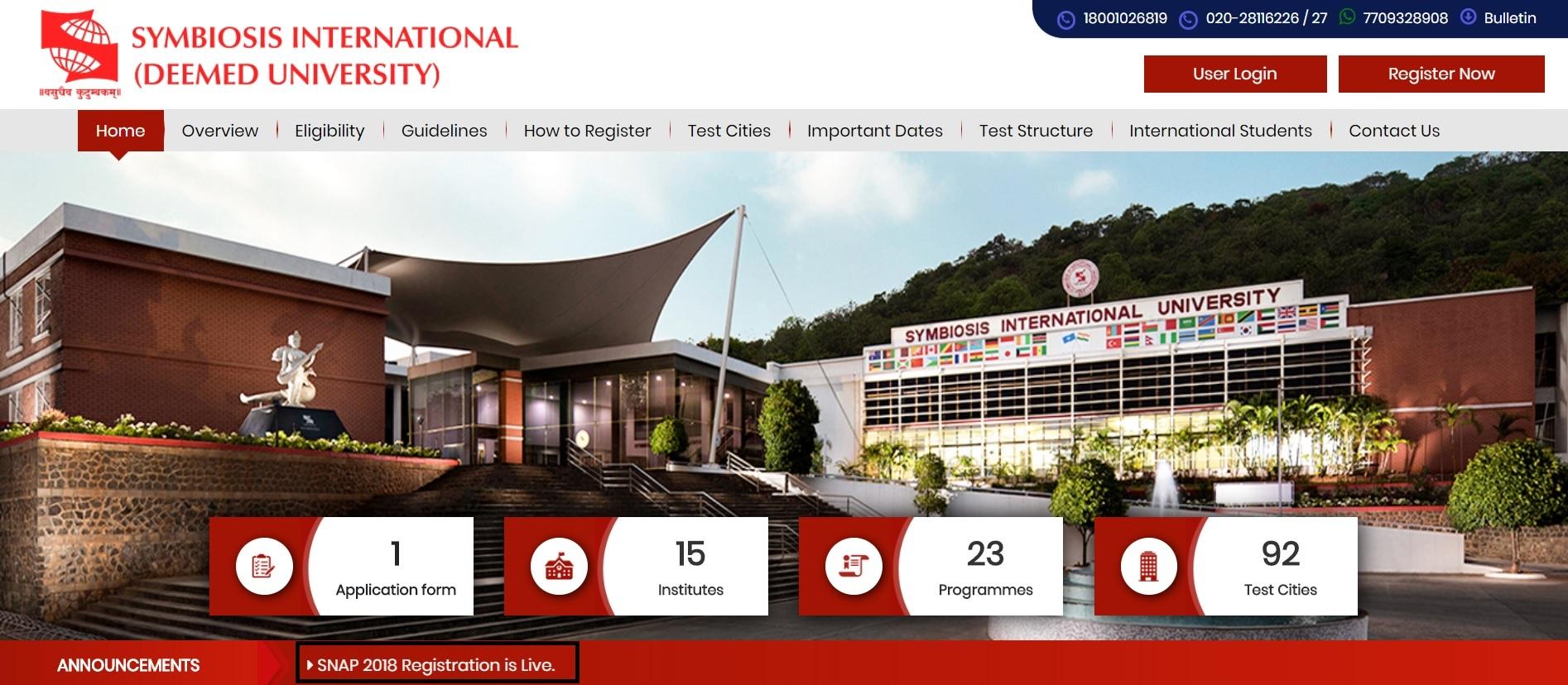 Screenshot of SNAP Official Website