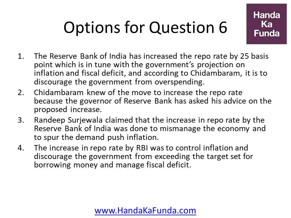 The Reserve Bank of India has increased the repo rate by 25 basis point which is in tune with the government