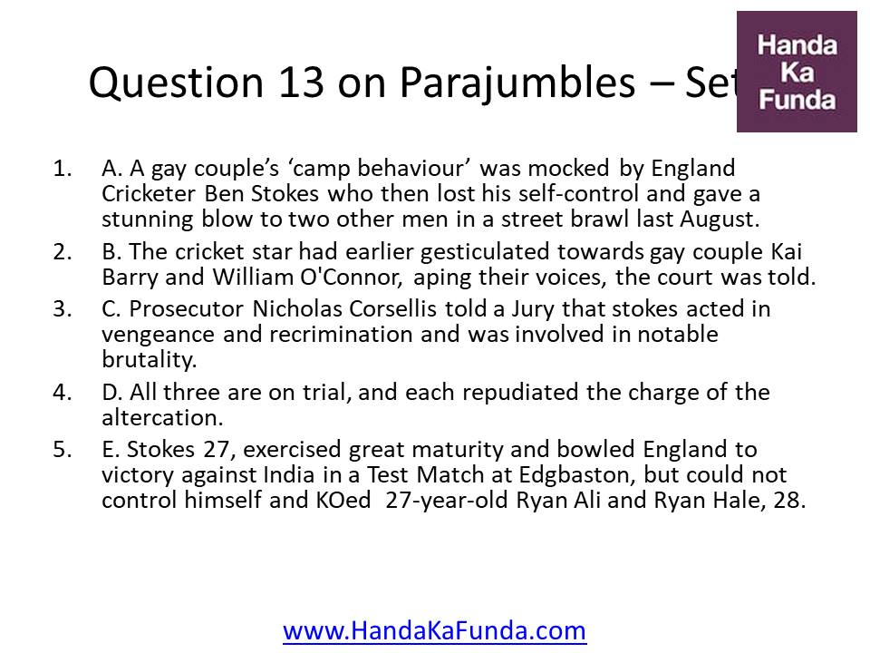 Question 13 A. A gay couple