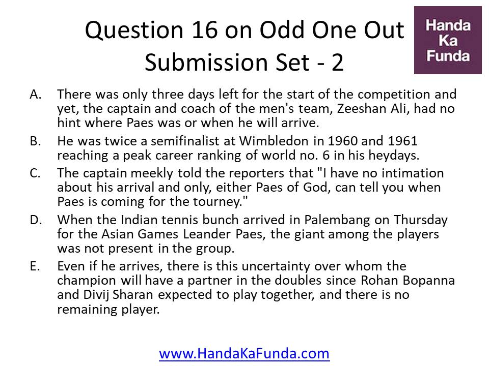 16. A.There was only three days left for the start of the competition and yet, the captain and coach of the men