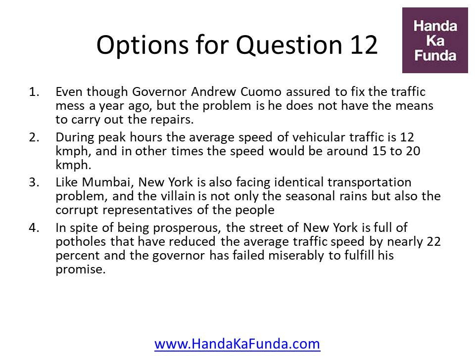 Even though Governor Andrew Cuomo assured to fix the traffic mess a year ago, but the problem is he does not have the means to carry out the repairs. During peak hours the average speed of vehicular traffic is 12 kmph, and in other times the speed would be around 15 to 20 kmph. Like Mumbai, New York is also facing identical transportation problem, and the villain is not only the seasonal rains but also the corrupt representatives of the people In spite of being prosperous, the street of New York is full of potholes that have reduced the average traffic speed by nearly 22 percent and the governor has failed miserably to fulfill his promise.