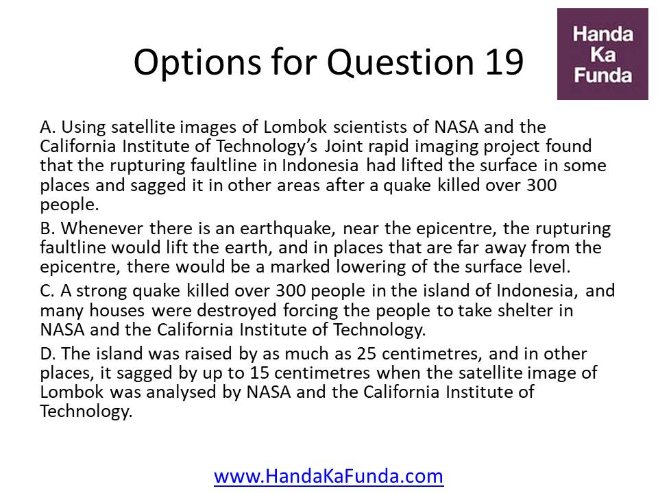 A. Using satellite images of Lombok scientists of NASA and the California Institute of Technology