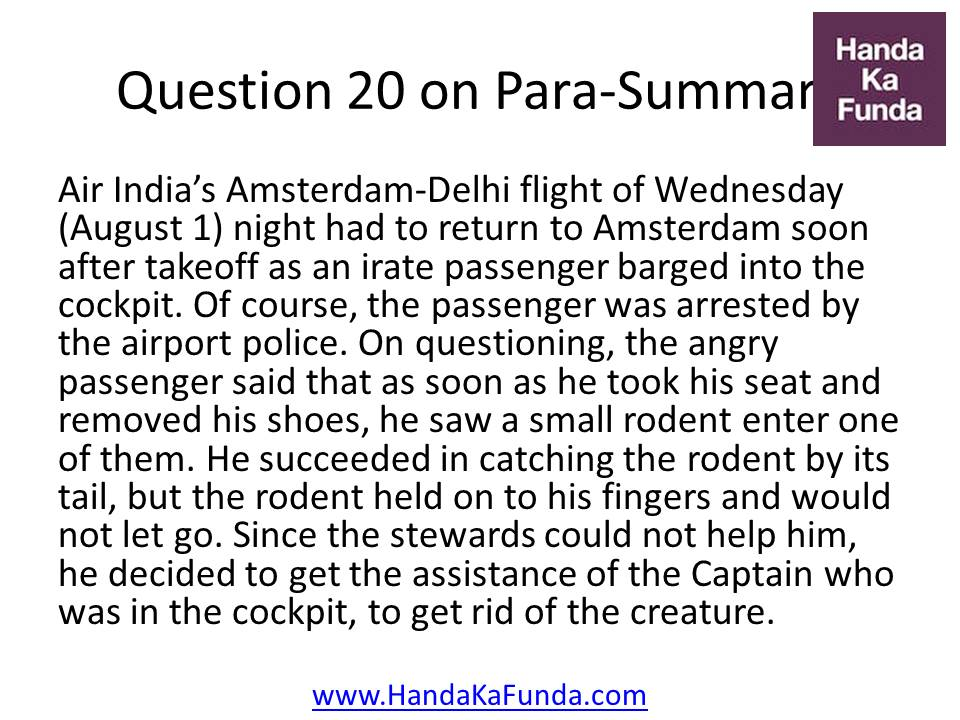 Question 20. Air India