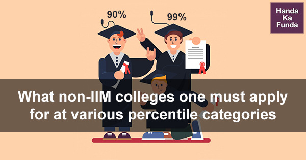 What non-IIM colleges one must apply for at various percentile categories
