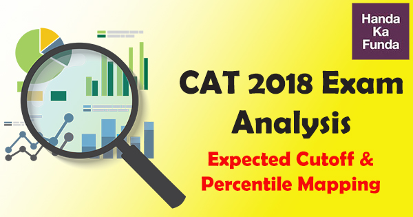 CAT 2018 Exam Analysis – Expected Cutoff and Percentile Mapping