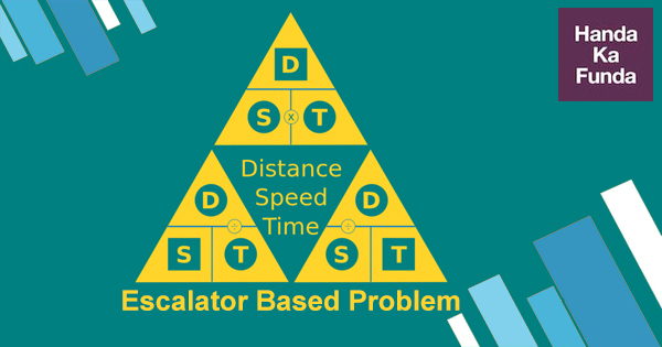 Escalator Based Problems Time Speed Disatnace