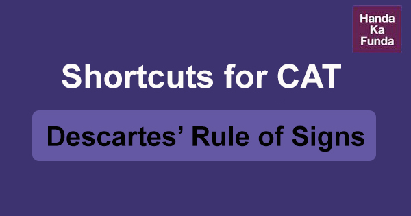 Shortcuts for CAT Descartes' Rule of Signs