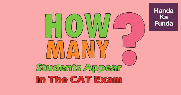 How many students appear in the CAT exam