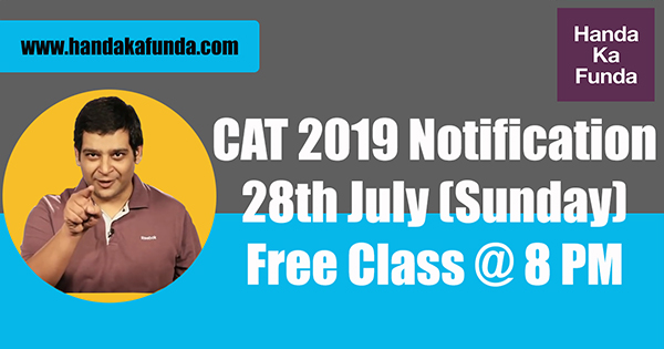 Free class CAT 2019 Notification blog