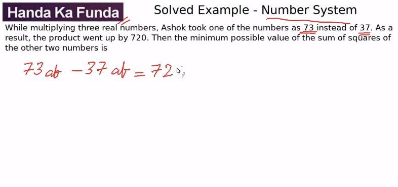 Quantitative Aptitude – Algebra - Simple Equations – While multiplying three real numbers