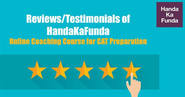 Reviews-Testimonials-of-HandaKaFunda-Online-Coaching-Course-for-CAT-Preparation