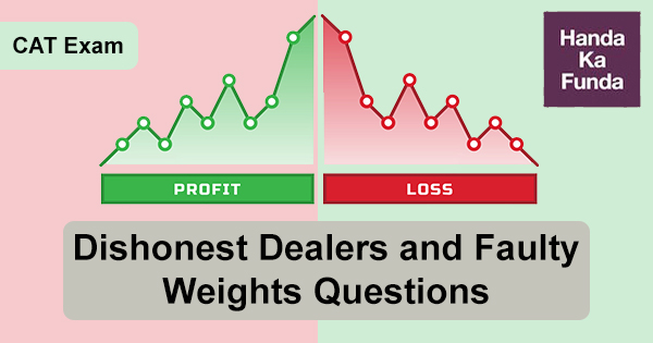Profit and Loss Dishonest Dealers and Faulty Weights Questions