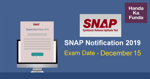 SNAP Exam 2019 Notification Released-important details
