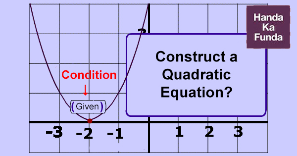 How to Construct a Quadratic Equation Based on Given Conditions