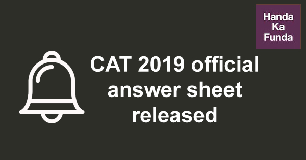 CAT 2019 response key and official answer sheet released