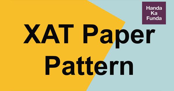 XAT Paper Pattern