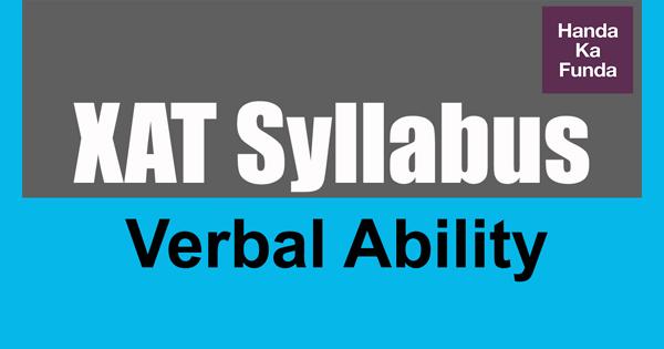 XAT Syllabus verbal ability