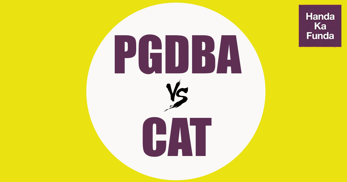 What is PGDBA and how it is different from CAT