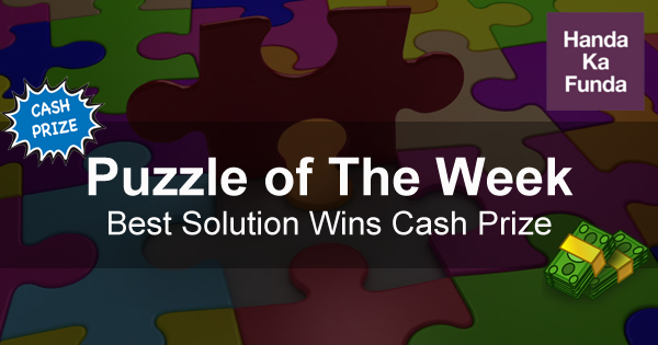 Puzzle of The Week best solution wins cash prize